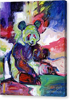 Panda Canvas Print by David Lloyd Glover