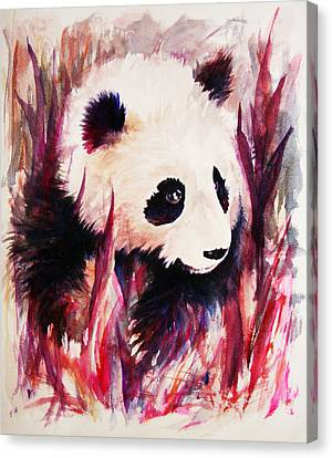 Panda Canvas Print by Rachel Christine Nowicki