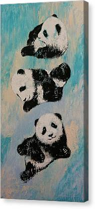 Panda Karate Canvas Print by Michael Creese