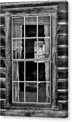 Panes To The Past Canvas Print by Sandra Bronstein