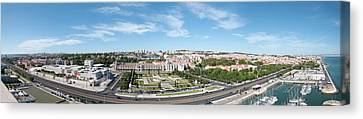 Panorama Of Lisbon Canvas Print by Alida Thorpe