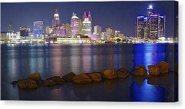 Panoramic Detroit Canvas Print by Frozen in Time Fine Art Photography