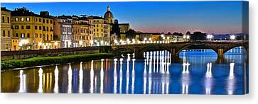 Panoramic Florence Italy Canvas Print by Frozen in Time Fine Art Photography