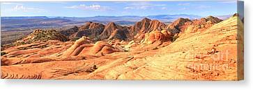 Panoramic Of Yant Flat Canvas Print by Adam Jewell
