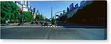 Panoramic View Of Avenida 9 De Julio Canvas Print by Panoramic Images
