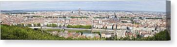 Panoramic View Of City Canvas Print by Mikhail Lavrenov