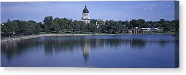 Panoramic View Of Lake With View Canvas Print by Panoramic Images