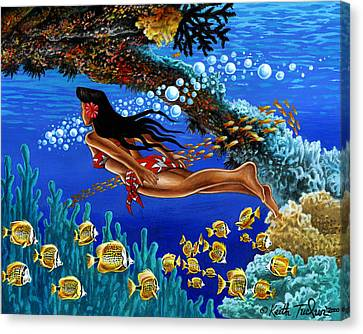 Papaku Means Bottom Of The Ocean In Hawaiian Canvas Print by Keith Tucker