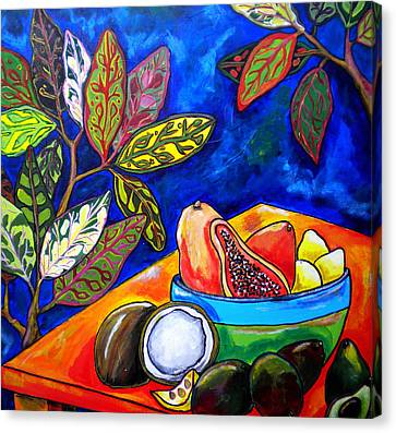 Papaya Morning Canvas Print by Patti Schermerhorn