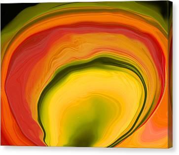 Papaya4 Canvas Print by Linnea Tober