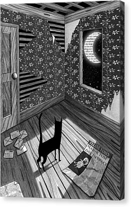 Paper Moon Canvas Print by Andrew Hitchen