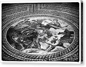 Paphos Mosaic Canvas Print by John Rizzuto