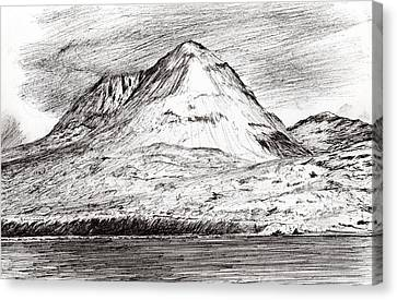 Paps Of Jura Canvas Print by Vincent Alexander Booth
