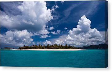 Paradise Is Sandy Cay Canvas Print by Adam Romanowicz