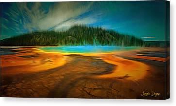 Paradise Island - Da Canvas Print by Leonardo Digenio