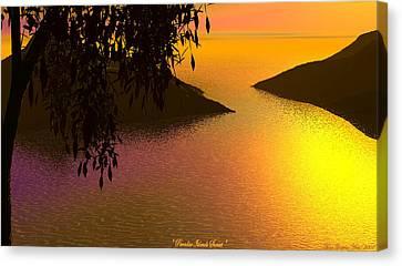 Paradise Island Canvas Print by Wayne Bonney