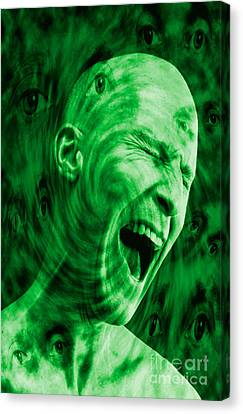 Paranoid Personality Disorder Canvas Print by George Mattei
