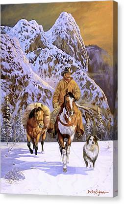 Pardners Canvas Print by Howard Dubois