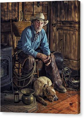 Pardners Canvas Print by Ron McGinnis