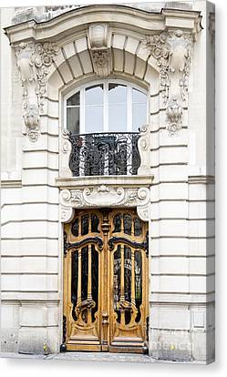Paris Art Nouveau Door Canvas Print by Ivy Ho