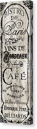Paris Bistro I Canvas Print by Mindy Sommers