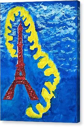 Paris Blue Canvas Print by Nannette Kelly
