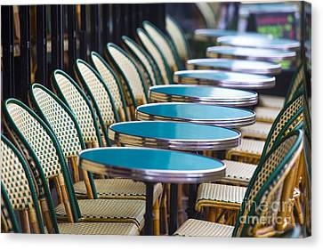 Paris Cafe Canvas Print by Katya Horner