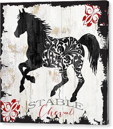 Paris Farm Sign Horse Canvas Print by Mindy Sommers