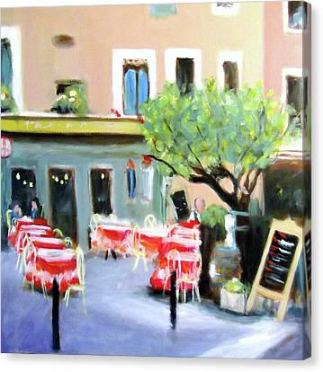 Paris French Cafe Canvas Print by Virginia Nickle