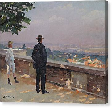 Paris From The Observatory At Meudon Canvas Print by Jules Ernest Renoux