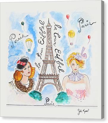 Paris Girls Canvas Print by John Keaton