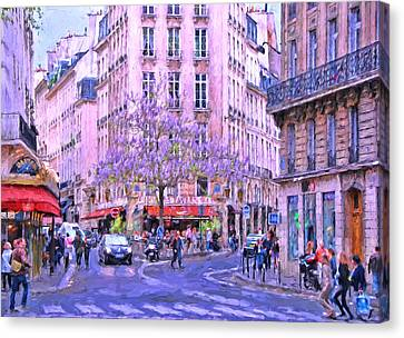 Paris Intersection Canvas Print by Allen Beatty