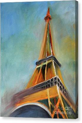 Paris Canvas Print by Jutta Maria Pusl
