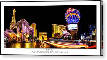 Paris On The Strip Poster Print Canvas Print by Az Jackson