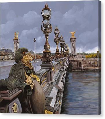 Paris-pont Alexandre IIi Canvas Print by Guido Borelli