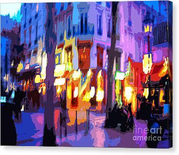 Paris Quartier Latin 02 Canvas Print by Yuriy  Shevchuk