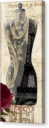 Paris Seamstress II Canvas Print by Mindy Sommers