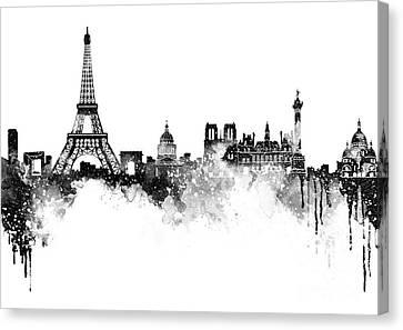 Paris Skyline Italy Canvas Print by Prar Kulasekara
