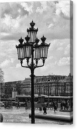 Paris Street Lamps Canvas Print by Diana Haronis