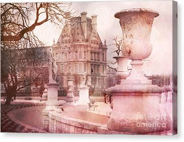 Paris Tuileries Park Garden - Jardin Des Tuileries Garden - Paris Tuileries Louvre Garden Sculpture Canvas Print by Kathy Fornal