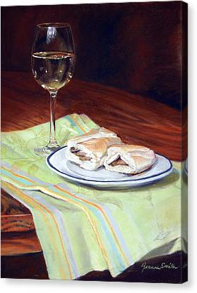 Parisian Lunch Canvas Print by Jeanne Rosier Smith