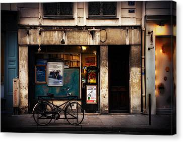 Parisian Storefront Canvas Print by Cabral Stock