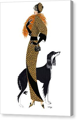 Parisien Chic - Monique And Sally Canvas Print by Di Kaye