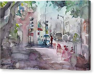 Park Avenue 2 Canvas Print by Becky Kim