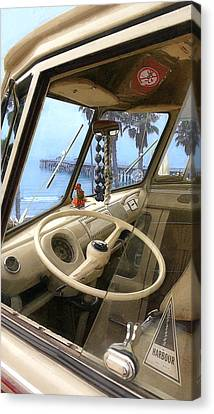 Parked Above The Pier Canvas Print by Ron Regalado