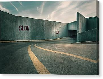 Parking Garage At The End Of The World Canvas Print by Scott Norris
