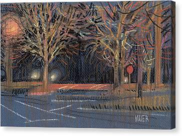 Parking Lot Canvas Print by Donald Maier