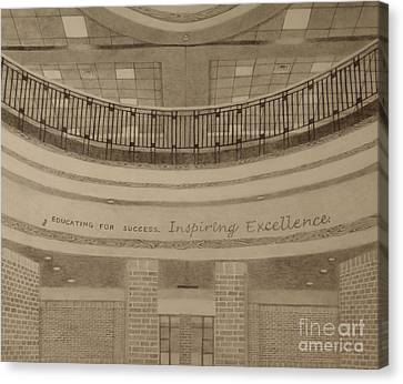 Parkland Rotunda Canvas Print by Meg Goff