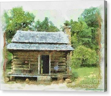 Parkway Cabin Canvas Print by Paulette B Wright