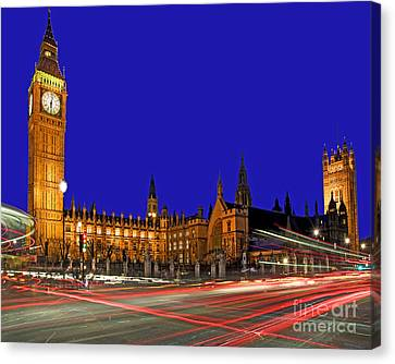 Parliament Square In London Canvas Print by Chris Smith